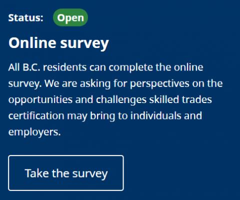 skilled trades certification survey